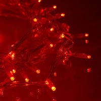 80m 800 Red LED Connectable Fairy Lights Clear Cable Core Series