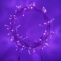 80m 800 Purple LED Connectable Fairy Lights Clear Cable Core Series