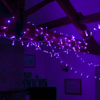 70m 700 Purple LED Connectable Fairy Lights Clear Cable Core Series