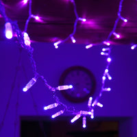 100 Ultra Violet Led Connectable Fairy Lights Clear Cable 10M