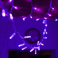 20m 200 Purple LED Connectable Fairy Lights Clear Cable Core Series
