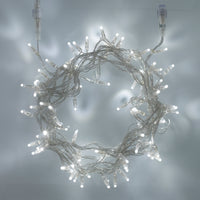 100 White Led Connectable Fairy Lights Clear Cable 10M