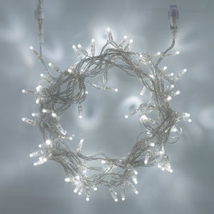 10m 100 White LED Connectable Fairy Lights Clear Cable Core Series