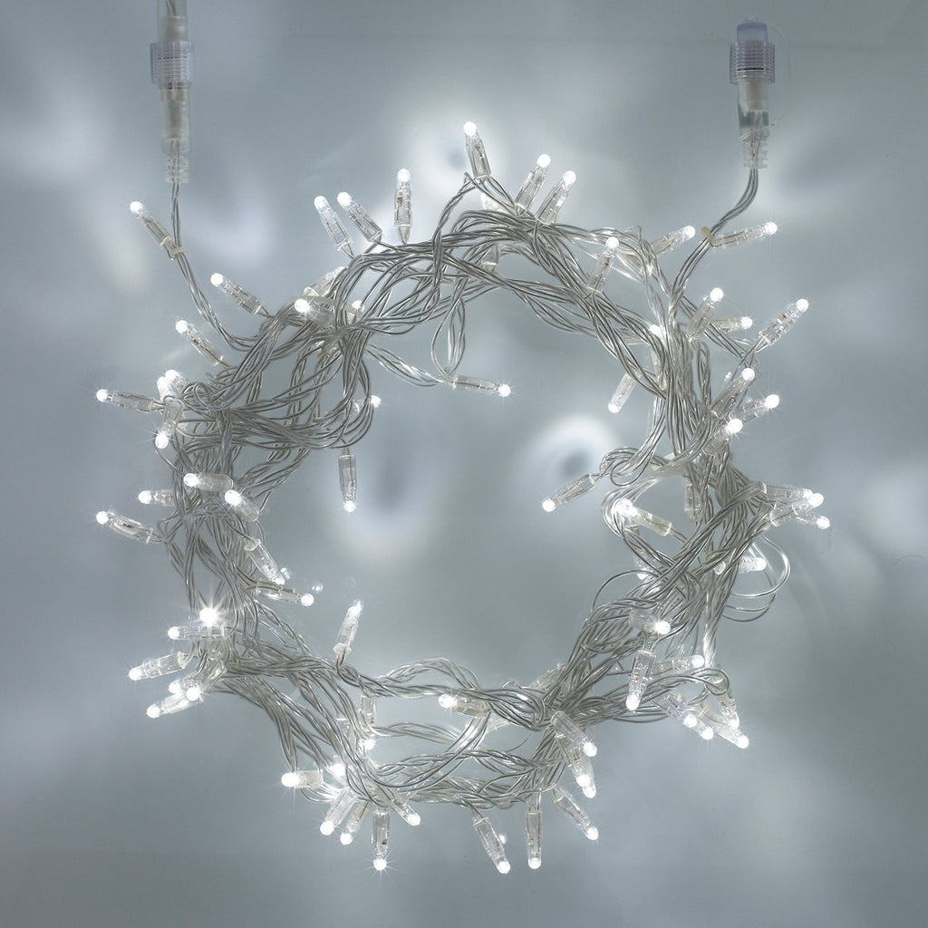 40m 400 White Led Connectable Fairy Lights Clear Cable
