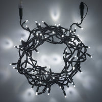20m 200 White LED Connectable Fairy Lights Green Cable Core Series
