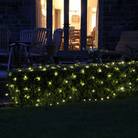 4m x 2m 280 Warm White LED Connectable Net Lights Green Cable Core Series