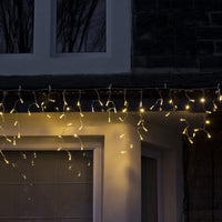 64 Warm White Led Connectable Icicle Lights 2M