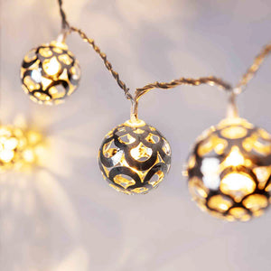 16 Silver Ball Fairy Lights