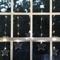 47 Warm White Micro Led Star Curtain Light
