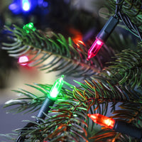 150 Multi Coloured LED Traditional Christmas Tree Lights