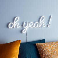 Oh Yeah Neon Wall Light