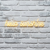 Hello Sunshine Neon Wall Light