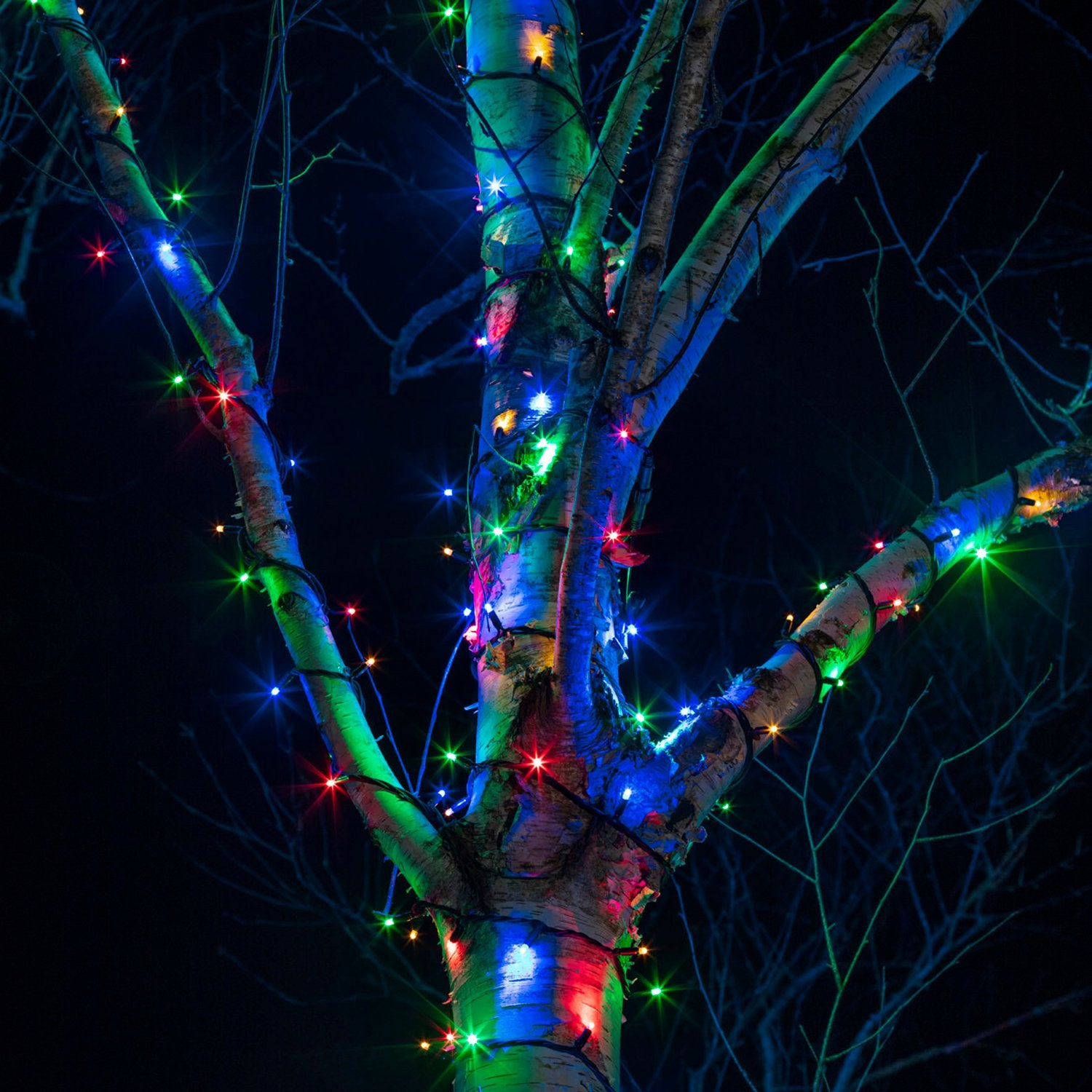 15m 150 Multi Coloured Led Connectable String Lights Black Cable Pro S Lights4fun Co Uk