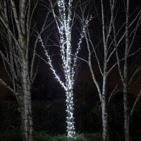 60m 600 White LED Connectable String Lights White Cable Pro Series