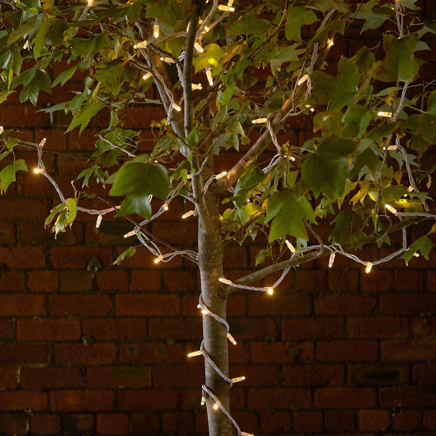 15m 150 Traditional Warm White Led Connectable String Lights White Cab Lights4fun Co Uk