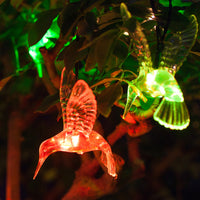 10 Colour Changing Hummingbird Solar Fairy Lights