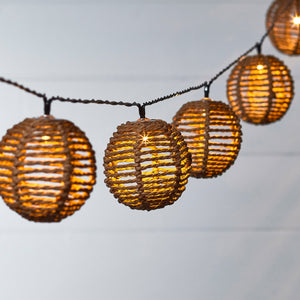 Rattan Solar Fairy Lights