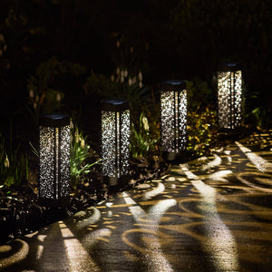 4 Moroccan Solar Stake Lights