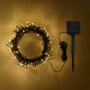 200 Warm White LED Solar Fairy Lights