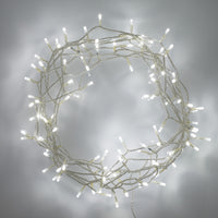 100 White Led Fairy Lights On Clear Cable