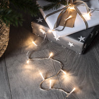 100 Warm White Led Fairy Lights On Clear Cable 2