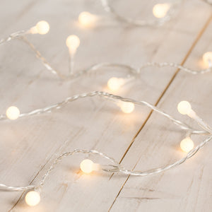 40 Warm White Berry Fairy Lights