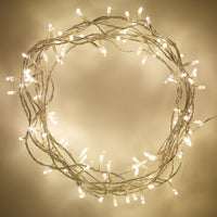 200 Warm White Led Fairy Lights On Clear Cable