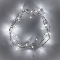 50 White LED Fairy Lights On Clear Cable