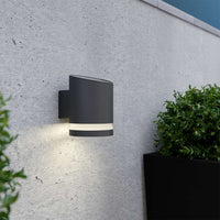 Charcoal Truro Solar Wall Light