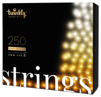 20m 250 LED  Twinkly Smart App Controlled String Lights Gold Edition