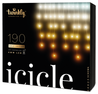 5m 190 LED Twinkly Smart App Controlled Icicle Lights Gold Edition