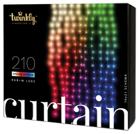 2.1m 210 LED Twinkly Smart App Controlled Curtain Light Special Edition