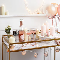 20 Rose Gold Heart Micro Fairy Lights