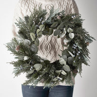 50cm Frosted Berry and Pinecone Christmas Wreath