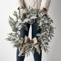 50cm Eucalyptus & Laurel Christmas Wreath
