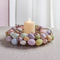 33cm Egg Easter Wreath TruGlow® Candle Bundle