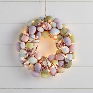 33cm Egg Easter Wreath Micro Light Bundle