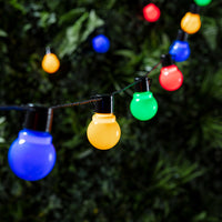 30 Multi Coloured Plug In Fiesta Festoon Lights