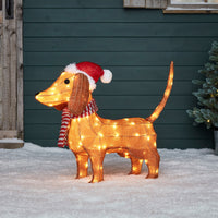 Dachshund Outdoor Christmas Figure