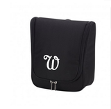 Personalized Black Hanging Toiletry Bag