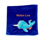 Personalized Plush Velour 3-D Whale Blanket