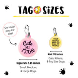 Keep Calm & OMG a Cat! - Pet ID Tag