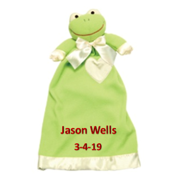 Personalized Frankie the Frog Blanket