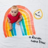 Personalized Baby's First Year Milestone Blanket & Card Set - A Dream Come True!