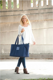 Personalized Large Heavy Canvas Boat Tote