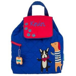 Personalized Quilted Dog Backpack by Stephen Joseph