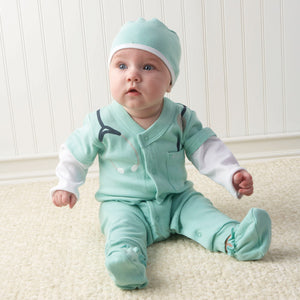 Personalized Baby M.D. Three-Piece Layette Set
