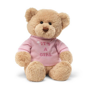 It's a Girl Embroidered Tshirt Bear by Gund