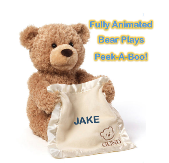 Personalized Interactive Gund Peek-A-Boo Bear