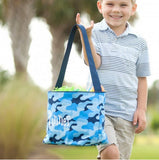 Personalized Blue Camo Easter Bucket